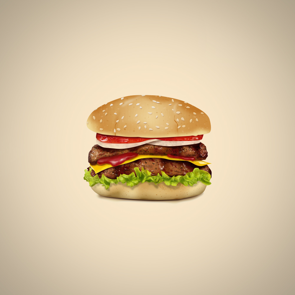 A Delicious Cheeseburger Logo